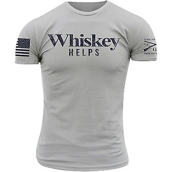 Grunt Style Whiskey Helps T-Shirt - Light Gray