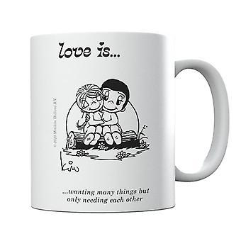 El amor es querer muchas cosas, pero sólo necesitarse unas tazas
