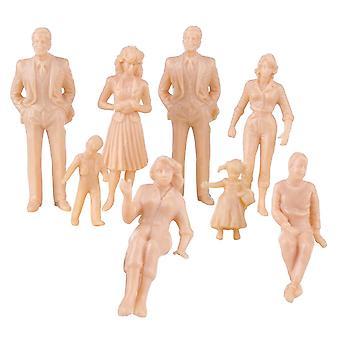 1:30 Scale Miniature People Figurines - Diy Painted Abs Figures / Models