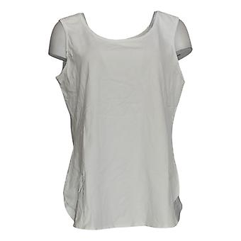 Women With Control Women's Top Shirttail Hem Scoop Neck Tank White A306465