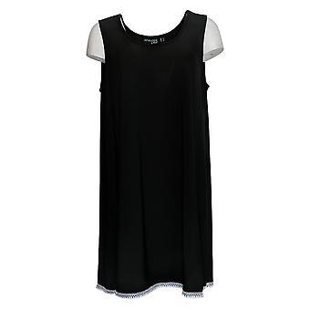 Attitudes by Renee Women's Top Como Jersey Sleeveless Tunic Black A353138