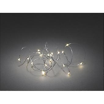 Konstsmide Light Set Warm White LED x 20 Silver Wire 1460-190
