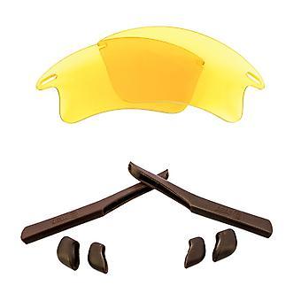 Ersatz Linsen & Kit für Oakley Fast Jacket XL gelb & braun Anti-Scratch Anti-Glare UV400 von SeekOptics