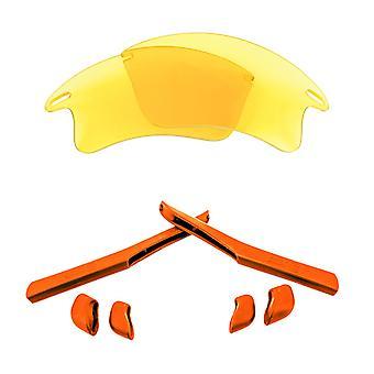 الاستقطاب استبدال العدسات & كيت ل Oakley سريع سترة XL الأصفر والأحمر المضادة للخدش الأشعة فوق البنفسجية المضادة للوهج من قبل SeekOptics