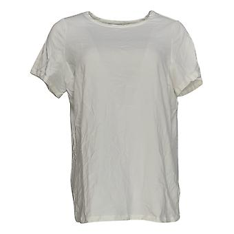 G.I.L.I. Got It Love It Women's Plus Top Crew Neck T-Shirt White A298277