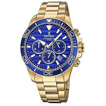 Beobachten Sie Festina Prestige F20364-2 - Watch Chronograph Stahl gold Mann