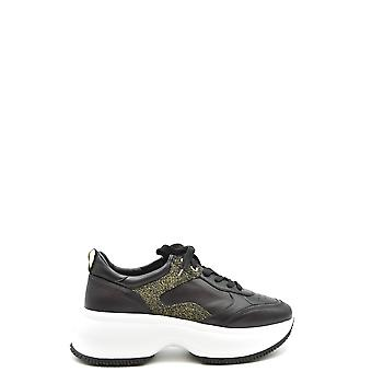 Hogan Ezbc030234 Women's Black Leather Sneakers