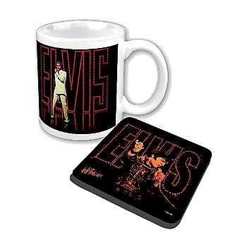Elvis Presley Mug and Coaster 68 Special new official Gift set