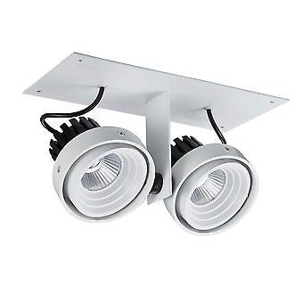Nowoczesny techniczny LED wpuszczony sufit biały, czarny, chłodny biały 4000K 1770lm