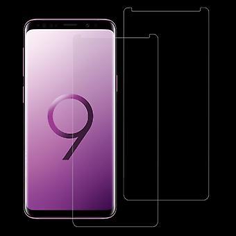 Galaxy S9 + 0,26 mm: n 9H-pinnan kovuus 2,5D kaareva reuna ei-koko näytön karkaistu lasi etunäytön suoja