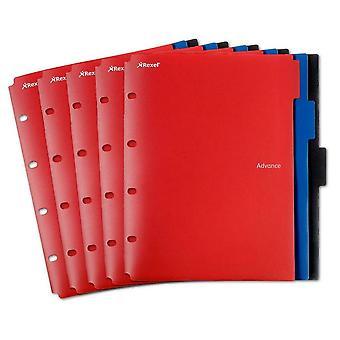 Rexel A4 Advance 2 Pocket Dividers Wallet File Folder Red Black Blue Pack of 15