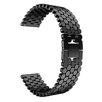 22mm Stainless Alloy Steel Strap Wrist Replacement Watch Band