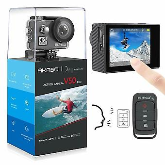 Waterproof, Touch Screen Wifi Action Camera With Voice Control And Helmet