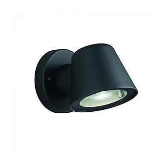 Schwarze Wandleuchte für Garten Exto 1 Glühbirne Breite 11 Cm
