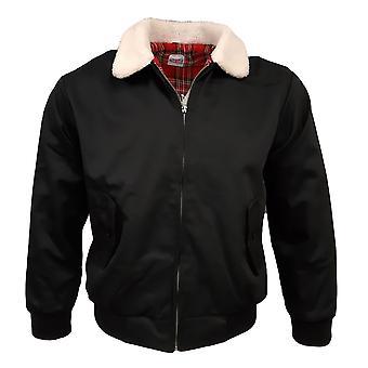 Harrington Jacket WHITE FUR SHERPA COLLAR