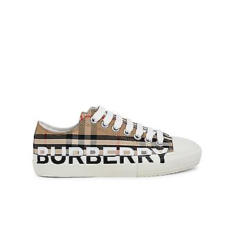 Burberry 8024301a7026 Donne's Beige Cotton Sneakers