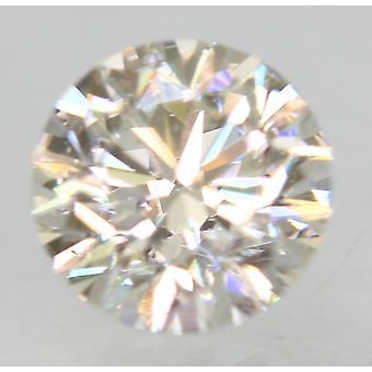 認定 0.58 カラット H VVS2 ラウンド ブリリアント エンハンスナチュラル ルーズ ダイヤモンド 5.23m