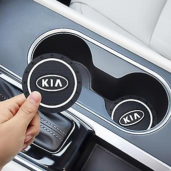 Car Water Cup Bottle Holder Pad/mat Silica Gel For Kia Cerato Sportage R K2 K3