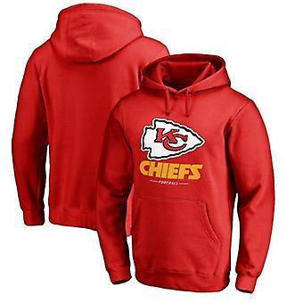 Kansas City Chiefs Loose Hooded Sweatshirt Hoodie Tops WYK086