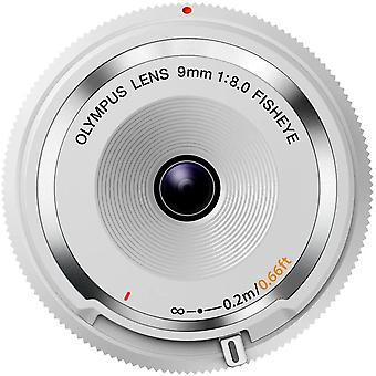9mm 1:8.0 Fish Eye Body Cap Lens - White