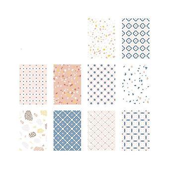 Not Sticky Cute Multiple Color Decorative Paper