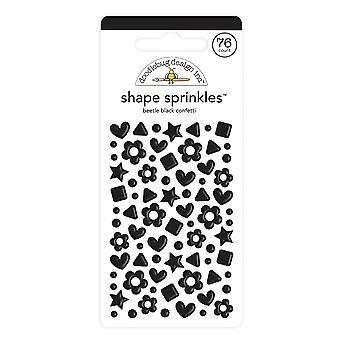 Doodlebug Diseño Escarabajo Negro Confeti Forma Sprinkles