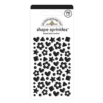 Doodlebug Design Käfer schwarz Konfetti Form Sprinkles