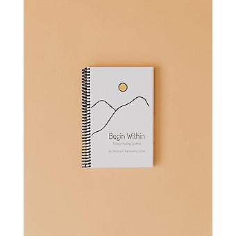 Begin Within Eco-friendly Wellness Journal (spiral Bound Edition) - White