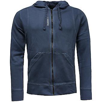 リーボック メンズ スリム フィット トレーニング フード付き スウェットシャツ ジャンパー ジャケット ブルー AY1643 A91C
