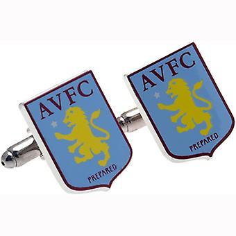 Aston Villa FC crista abotoaduras - oficialmente licenciado - AVFC Futebol Clube