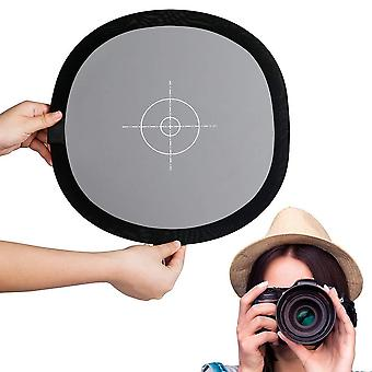 Fotover gray/white balance card,24x24 inch (60x60cm) portable focus board two sides double face 18%