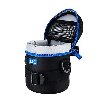Jjc dlp-1ii water resistant deluxe lens pouch with shoulder strap fits lens diameter and height belo
