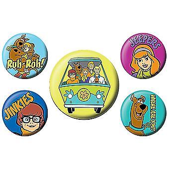 Scooby Doo Mystery Machine Team -merkkisarja (5 kpl pakkaus)