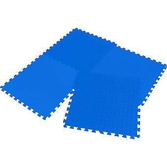 Puzzelmat Eva 60x60x1,2cm, set 4 stuks Enero blauw