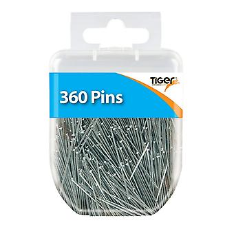 Tiger Stationery Essentials Straight Pins (Pack of 360)