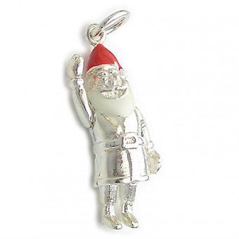 Vader Kerstmis Santa Sterling Silver Charm .925 X 1 Kerst Charms - 6303
