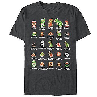 Nintendo Super Mario Pixel Cast T-Shirt