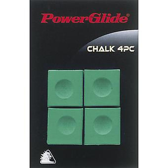 Powerglide Snooker & Pool Accessories Cue Green Chalk Four Piece x 3 Pack