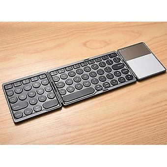 64 Tasten Mini Klapptastatur Bluetooth 3.0 Faltbare Wireless-Tastatur mit
