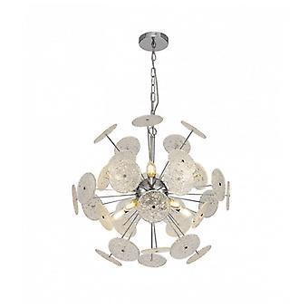 Cordoba Diseño Lámpara Colgante 10 Bombillas Cromo Pulido 6,5 Cm