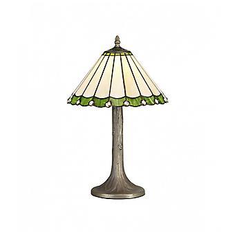 Lámpara De Mesa Tiffany Calais 1 Bombilla Verde 21,2 Cm