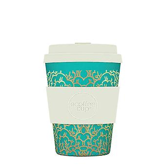 eCoffee Reusable Sustainable Bamboo 12oz Coffee Cups With Silicone Lid & Sleeve