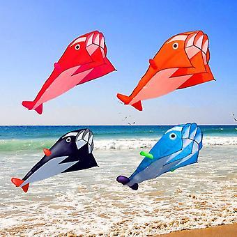 Outdoor Dolphin Soft Kite, Nylon Fabric, Line Animated Kites, Fishing