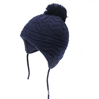 Winter Baby Cotton Knitted Ear Protective Cap Warm Thick Hats