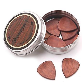 Гитарные аксессуары деревянные выбрать деревянную коробку и выбирает plectrum хранения один и десять