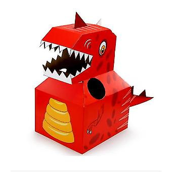 Children's Dinosaur Carton Box Can Wear Carton Clothes Handmade Paper Toy