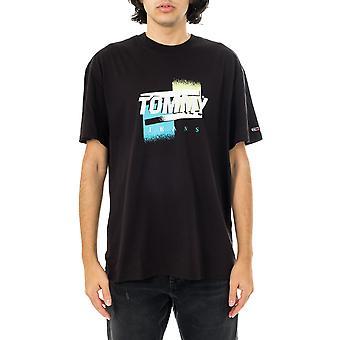 T-shirt homme tommy jeans tmj couleur fanée tee-shirt graphique dm0dm10233.bds