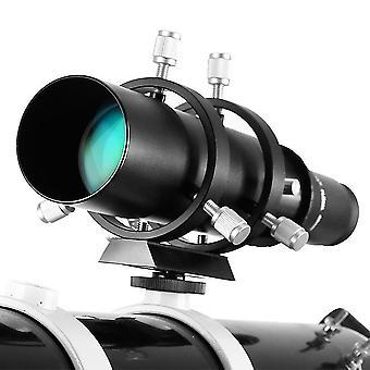 50mm ohjain scope finderscope kaksoiskierteinen tarkennin tähtitieteellinen teleskooppi 183mm 1.25in polttoväli suhde guidescope