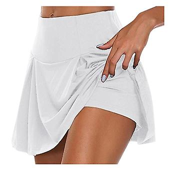 Sport Einfarbig Workout Volleyball S-3xl Tennis Running Skort Skirt