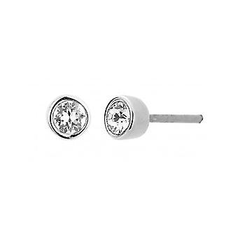 Traveller Pierced Earring - Rhodium Plated - Swarovski Crystal - 145597 - 644